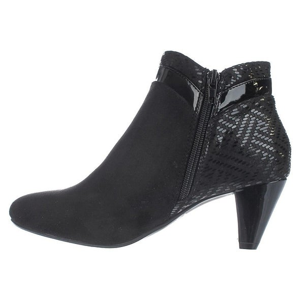 Karen Scott Womens Cahleb Fabric Closed Toe Ankle Fashion Boots Fashion Boots