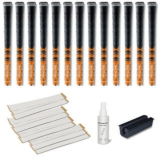 Golf Pride New Decade Multicompound (MCC) Orange - 13 pc Golf Grip Kit (with tape, solvent, vise clamp)