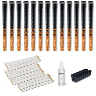 Golf Pride New Decade Multicompound (MCC) Orange - 13 pc Golf Grip Kit (with tape, solvent, vise clamp)