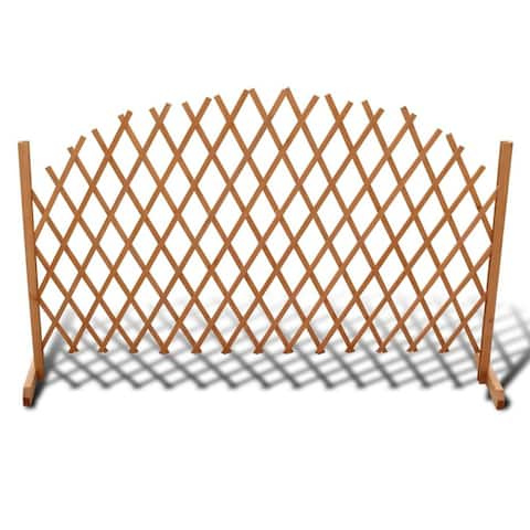 "vidaXL Trellis Fence Solid Wood 5' 11"" x 3' 3"""