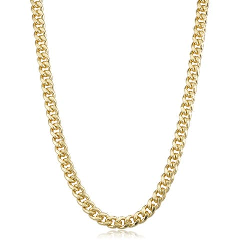 14k Gold Filled 6.5 millimeter Miami Cuban Link Chain Necklace