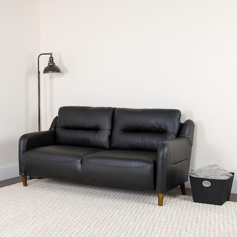 "Upholstered Bustle Back Sofa - 70""W x 27""D x 35""H"