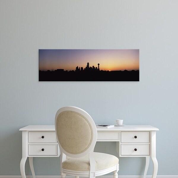 Easy Art Prints Panoramic Images's 'Sunrise Skyline Dallas TX USA' Premium Canvas Art
