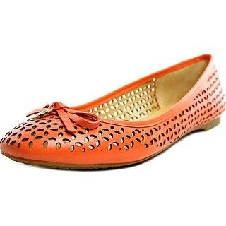Michael Michael Kors Olivia Flat   Round Toe Leather  Flats