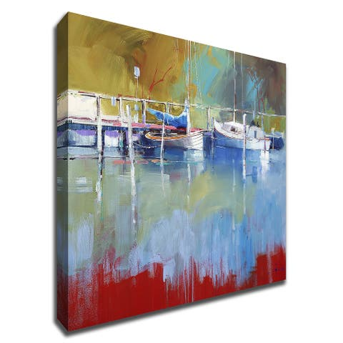 Masts at Metung by Craig Trewin Penny With Hand Painted Brushstrokes, Print on Canvas