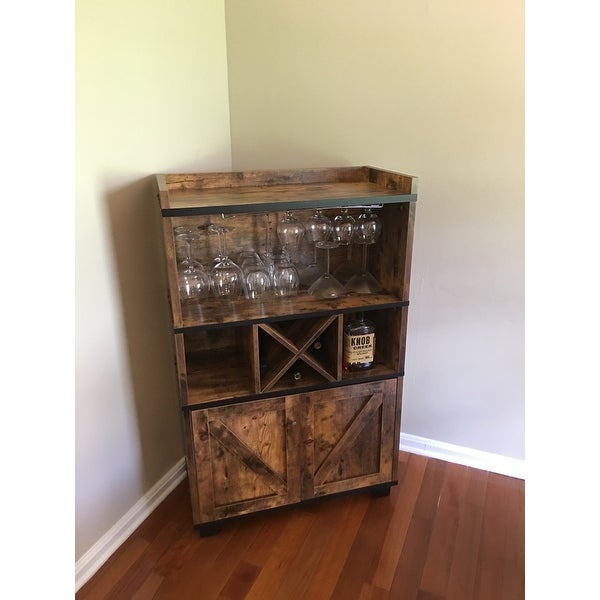 Furniture Of America Wesleyan Rustic Farmhouse Wine Cabinet Buffet On Free Shipping Today 20735360
