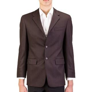 Prada Men's Wool Three-Button Suit Jacket Brown - 38r