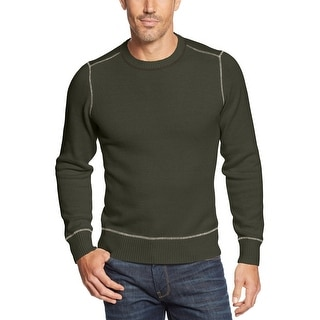 G.H. Bass and Co. Mens Crewneck Sweater Forest Night Green Large L