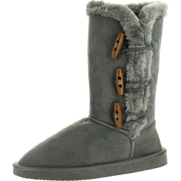 Static Footwear Womens Microsuede 8 Winter Faux Suede Boots""