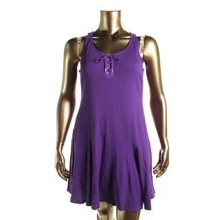 Lauren Ralph Lauren Womens Casual Dress Criss-Cross Front Sleeveless