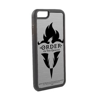 Harry Potter Order Of The Phoenix Logo Brushed Silver Black Cellphone Case iPhone6 Rubber Case