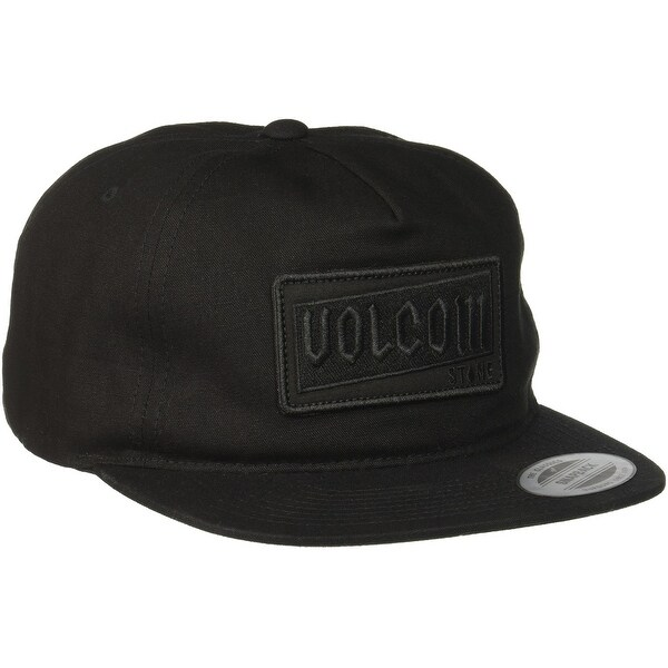 check out f6691 bb138 Shop Volcom Black Rotor Adjustable Men s Baseball Cap Cotton Hat Accessory  381 - Free Shipping On Orders Over  45 - Overstock - 22384646