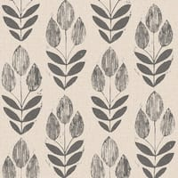 Brewster 2535-20651 Scandinavian Black Block Print Tulip Wallpaper - N/A