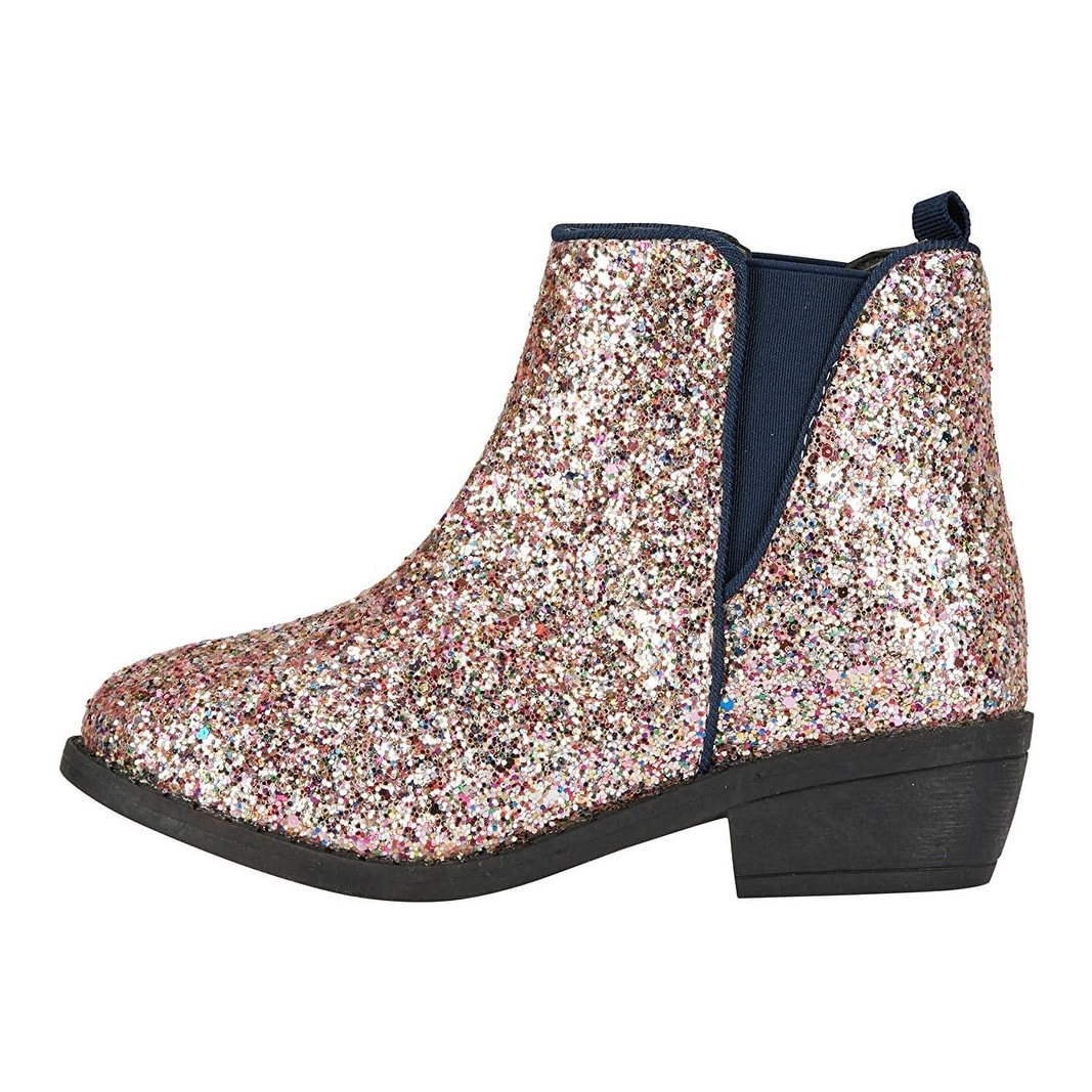 girls glitter ankle boots