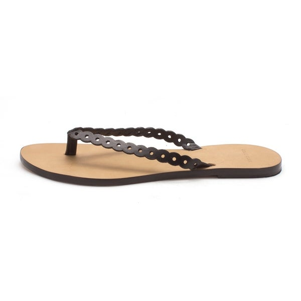 Cole Haan Womens Punched Flip Flop Open Toe Casual, Black, Size 6.0