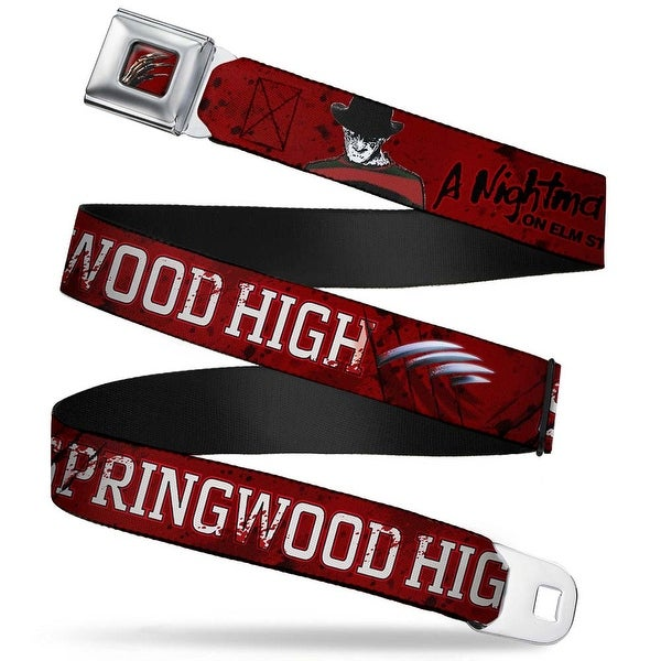 Freddy's Blade Hand Full Color Black Blood Splatter A Nightmare On Elm Seatbelt Belt