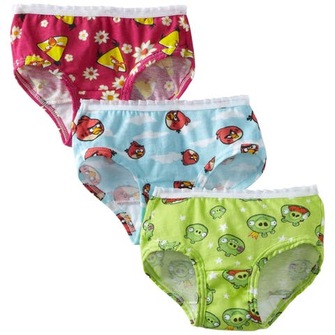 Fruit of the Loom Little Girls' Angry Birds Briefs