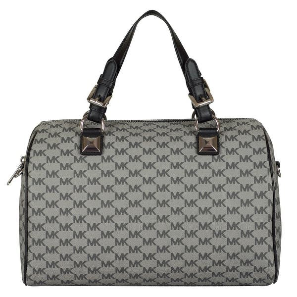 c2d2d3f51 Michael Kors Large Grayson Satchel Handbag in Black/ Black. Image Gallery