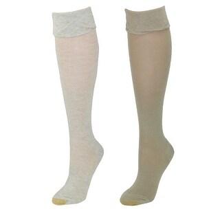 Gold Toe Women's Non Binding Knee High Socks (2 Pair Pack)
