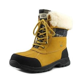 Ugg Australia Butte Men Round Toe Leather Tan Snow Boot