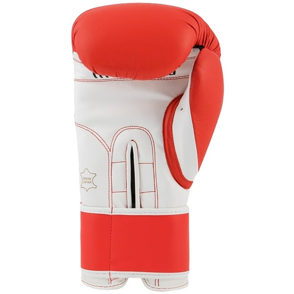 Red//White Title Boxing Pro Style 3.0 Hook and Loop Leather Training Gloves
