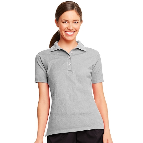 4099701f09dcd Shop Hanes X-Temp® Women s Polo - Size - S - Color - Light Steel - Free  Shipping On Orders Over  45 - Overstock - 13876908