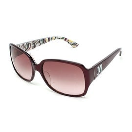 Missoni Women's Rectangular Oversized Sunglasses Burgundy - Small
