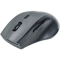 Manhattan Curve Wireless Optical Mouse (gray And Black)