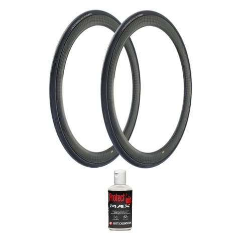 Hutchinson Fusion 5 Tubeless Bike Tire (700x25c, 2-Pack) and Sealant - 700 x 25c