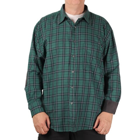 Bruno BIG & Tall Men's Brushed Twill Plaid Shirt