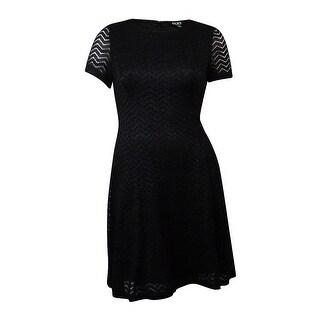 S.L. Fashions New York Women's Glittered Chevron Lace Dress