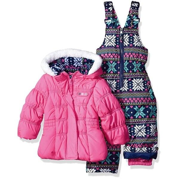 Pink Platinum Baby Girls 12-24 Months Snowflake Snowsuit