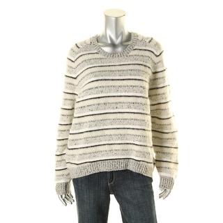 J Brand Womens Wool Blend Striped Pullover Sweater