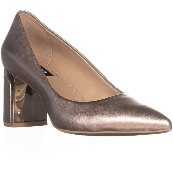 DKNY Elie Pointed-Toe Mid Pumps, Champagne