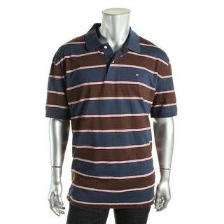 Tommy Hilfiger Mens Polo Shirt Striped Short Sleeves - XXL