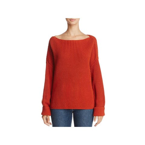 French Connection Womens Millie Mozart Pullover Sweater Knit Boatneck