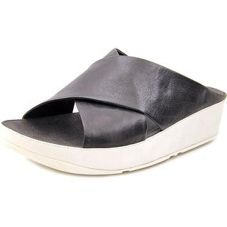 FitFlop Kys Open Toe Leather Slides Sandal
