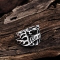 Vienna Jewelry Lucky 7's Stainless Steel Ring - Thumbnail 1