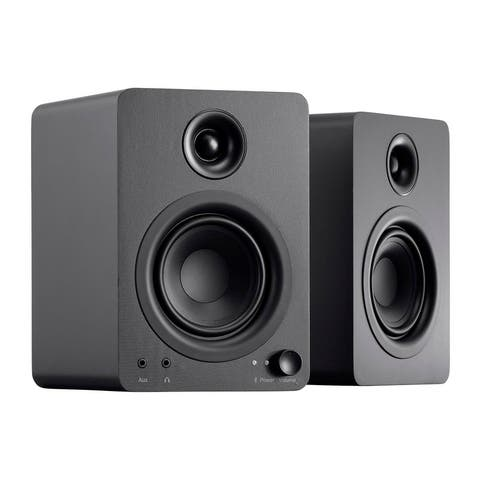 Monoprice DT-4BT 60-Watt Multimedia Desktop Powered Speakers With Bluetooth For Home, Office, Gaming, Or Entertainment Setup