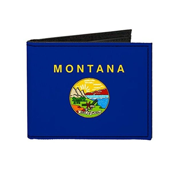 Buckle-Down Canvas Bi-fold Wallet - Montana Flag Accessory