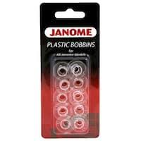 Janome Style J Plastic Bobbins (10 Pack)