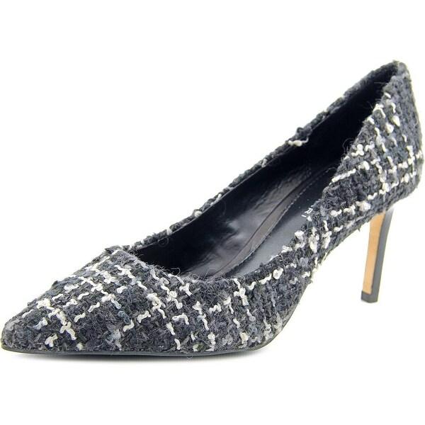 Elie Tahari Destry Women Pointed Toe Canvas Black Heels