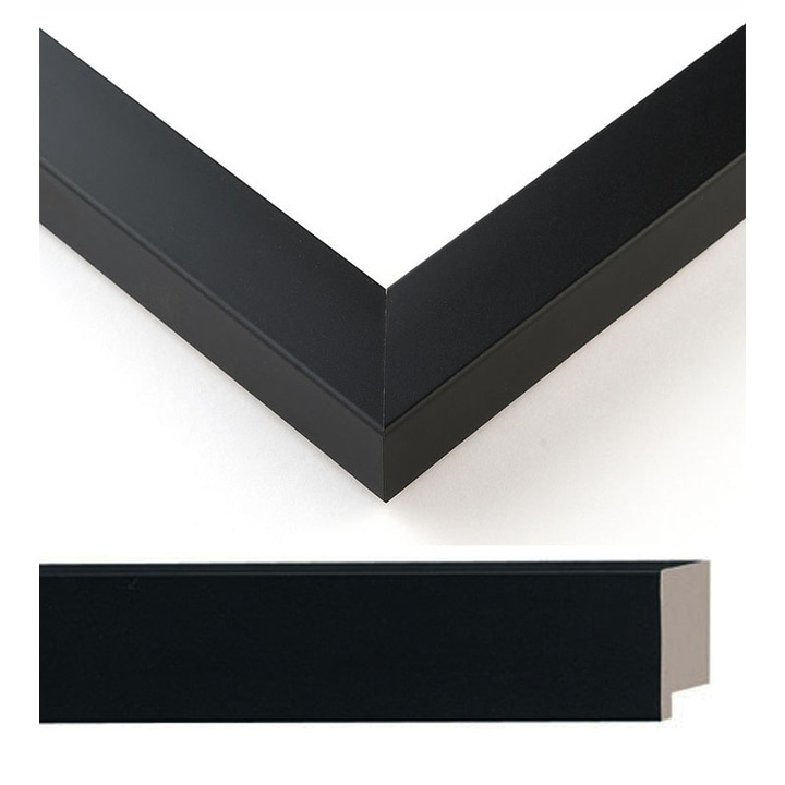 With Acrylic Front and Foam Board Backing 8x23 Modern Black Wood Picture Frame