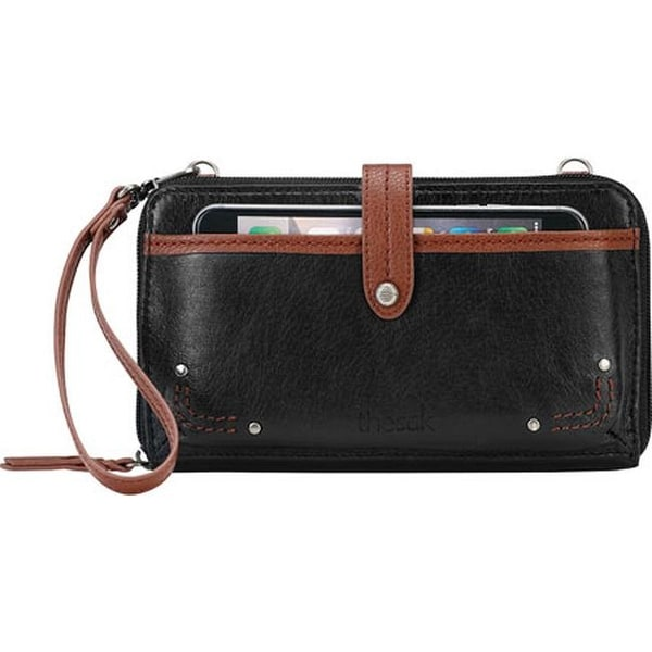 a473e1f3f89ce2 Shop THE SAK Women's Iris Large Smartphone Crossbody Black Onyx Leather -  US Women's One Size (Size None) - Free Shipping Today - Overstock - 16569700