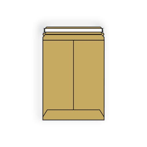 """Open End No Bend Mailer Envelopes, 9-1/2""""x 13-1/2"""",.015#, Tan, 100% Recycled Board, Center Seam, Tear Strip (Box of 250)"""