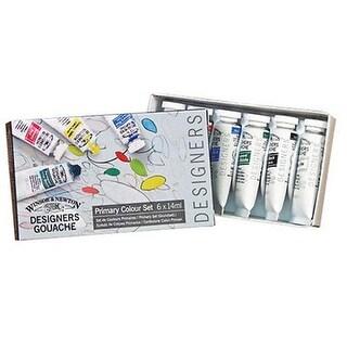 Winsor & Newton 0690174 Designers Gouache Color Primary Paint Set