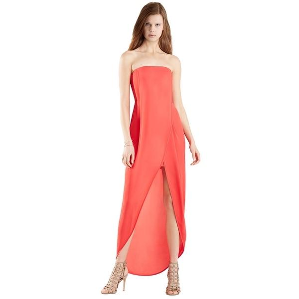 b184269f4ff Shop BCBG Maxazria Jesse Draped Wrap Front Strapless Evening Gown ...
