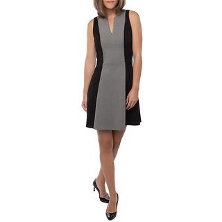 Adelyn Rae Womens Party Dress Ponte Colorblock