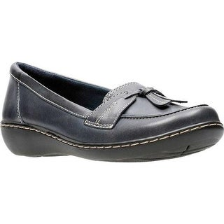 Clarks Women's Ashland Bubble Navy Leather