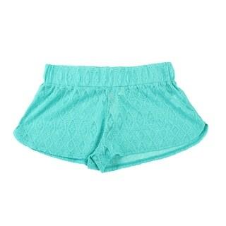 Miken Swim Green Mesh Beach Shorts L